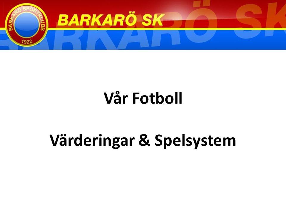Vår Fotboll Värderingar & Spelsystem