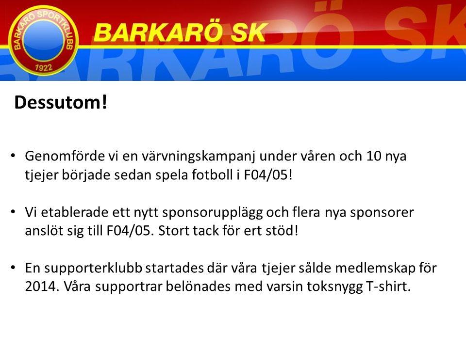 Genomförde vi en värvningskampanj under våren och 10 nya tjejer började sedan spela fotboll i F04/05.