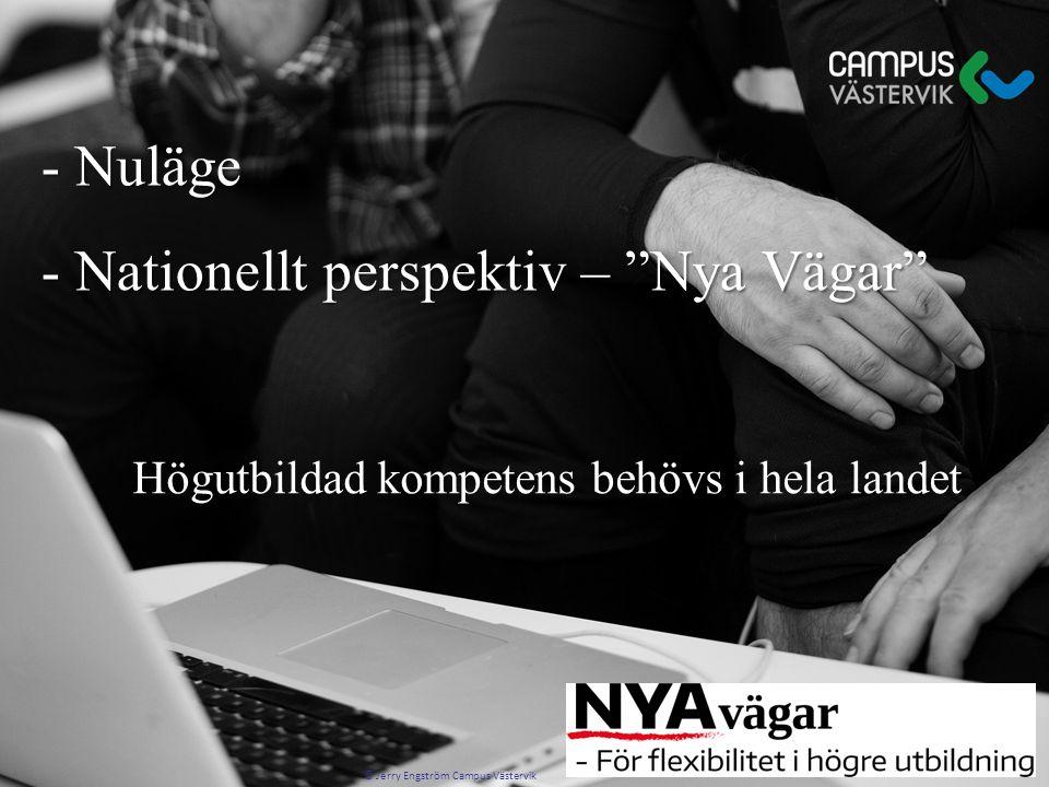 """Högutbildad kompetens behövs i hela landet - Nuläge - Nuläge - Nationellt perspektiv – """"Nya Vägar"""" - Nationellt perspektiv – """"Nya Vägar"""" © Jerry Engst"""