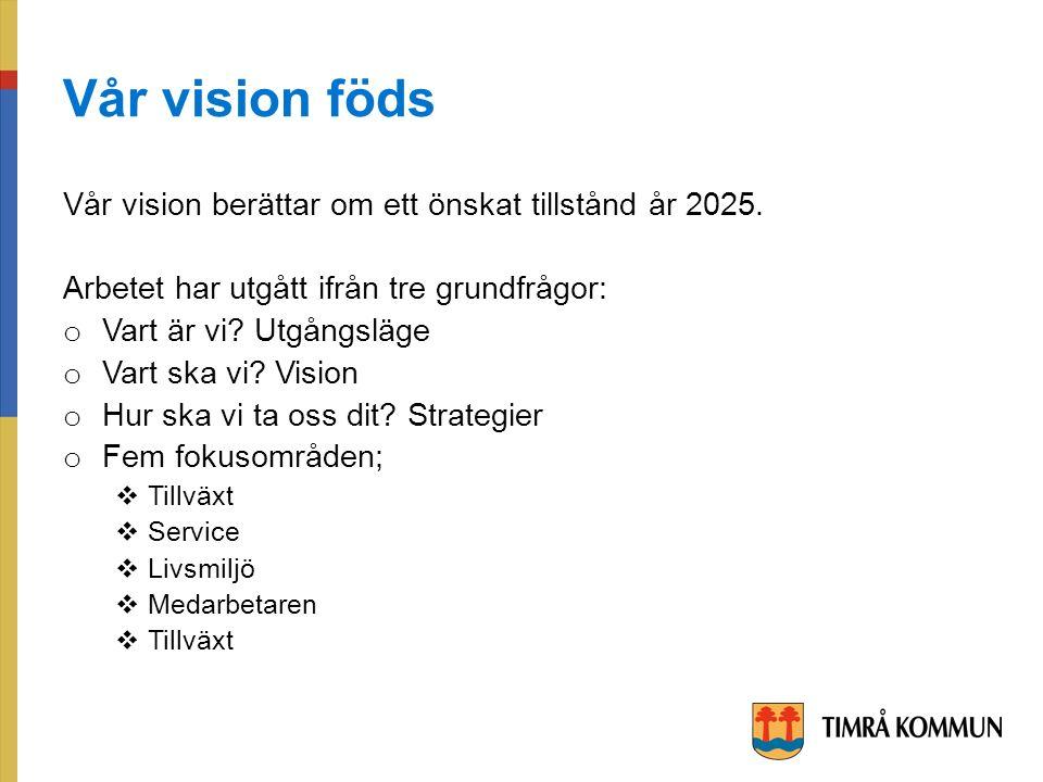 Vår vision föds Vår vision berättar om ett önskat tillstånd år 2025.
