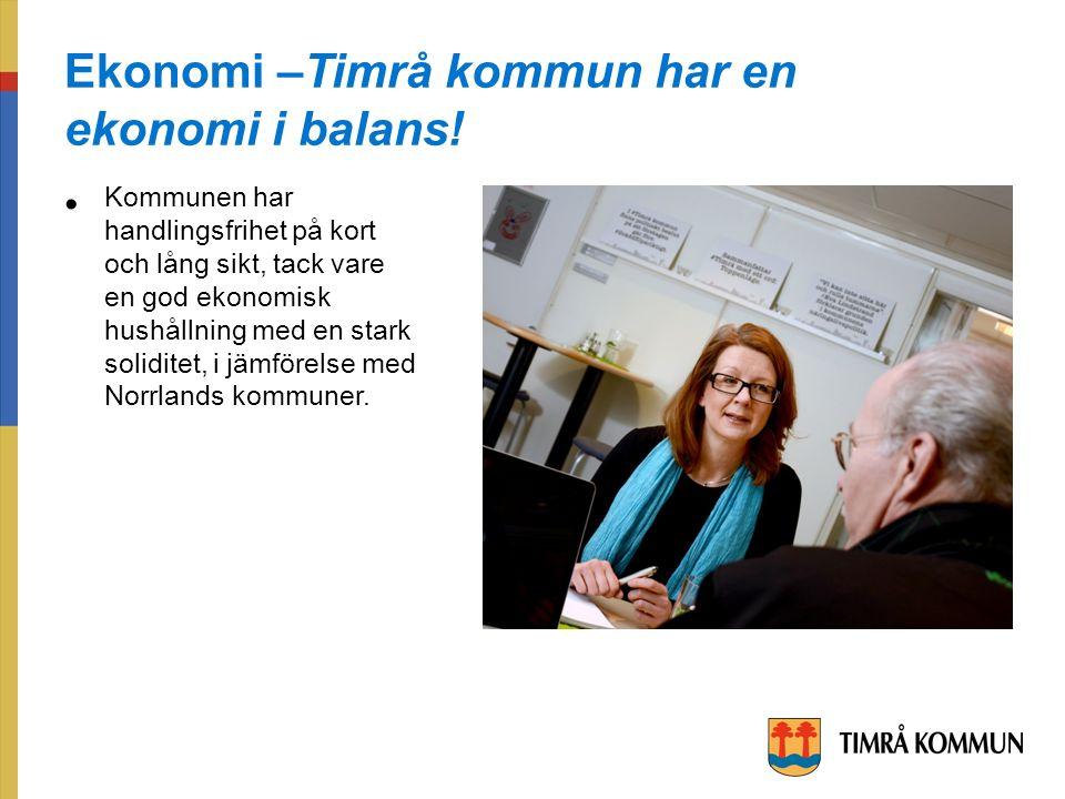 Ekonomi –Timrå kommun har en ekonomi i balans.