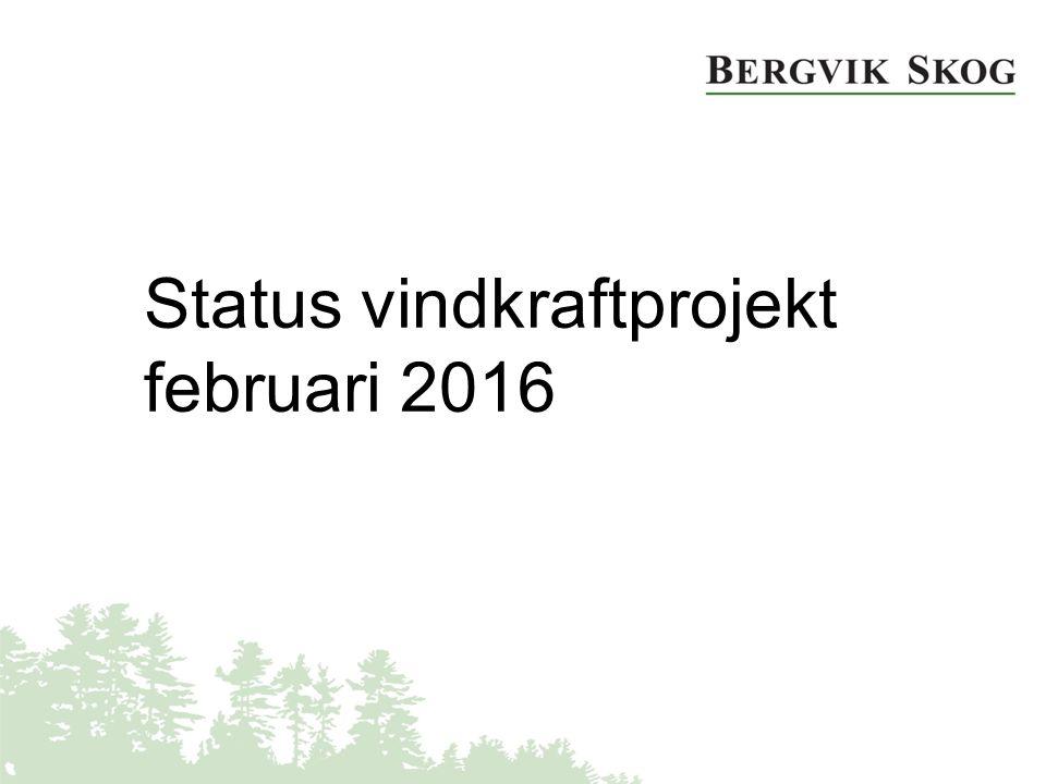 Status vindkraftprojekt februari 2016
