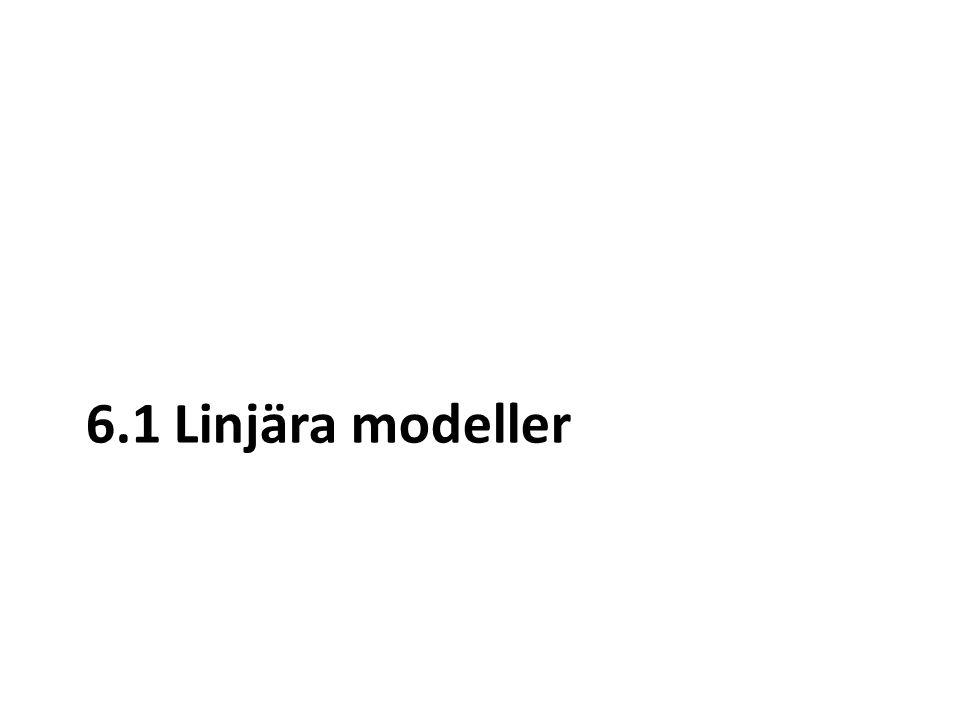 6.1 Linjära modeller