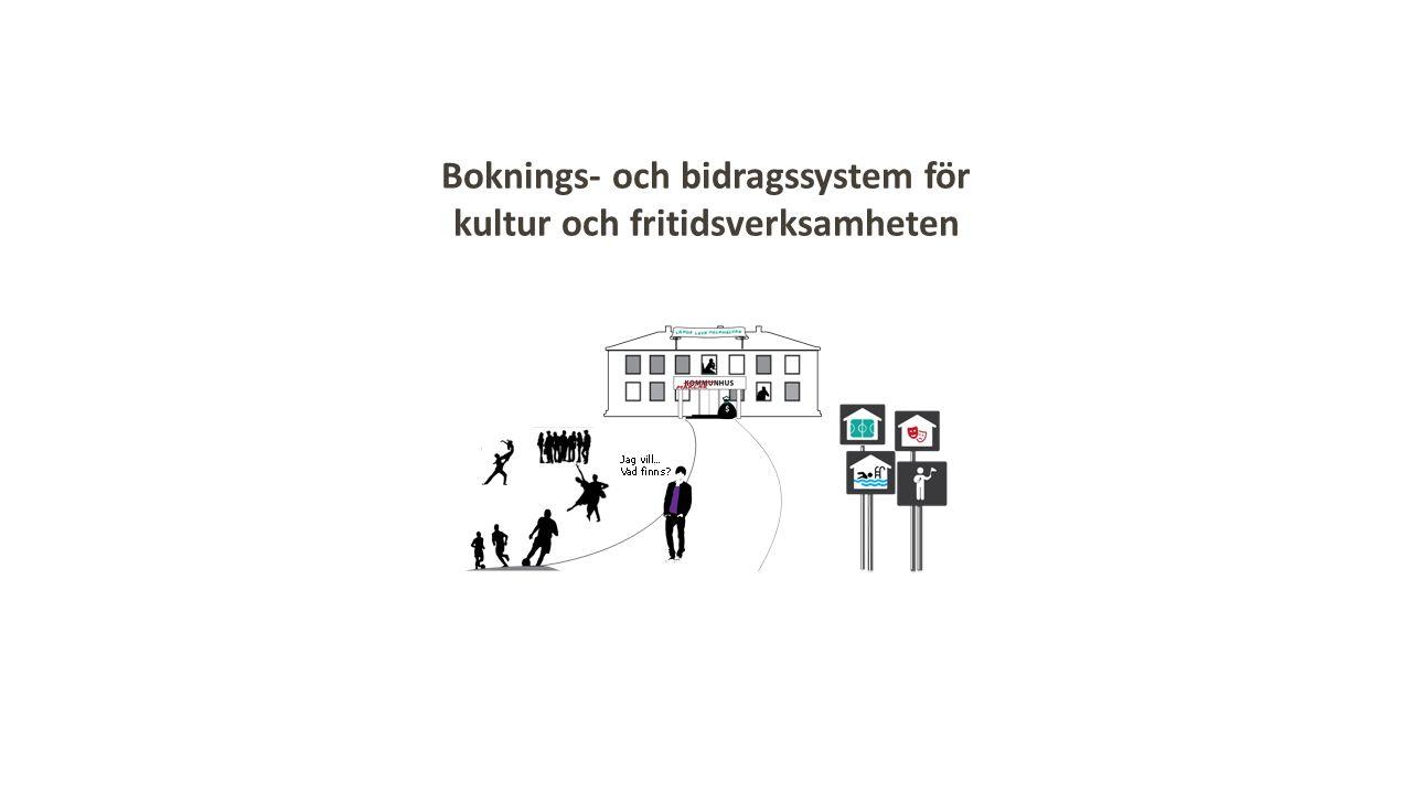 Boknings- och bidragssystem för kultur och fritidsverksamheten