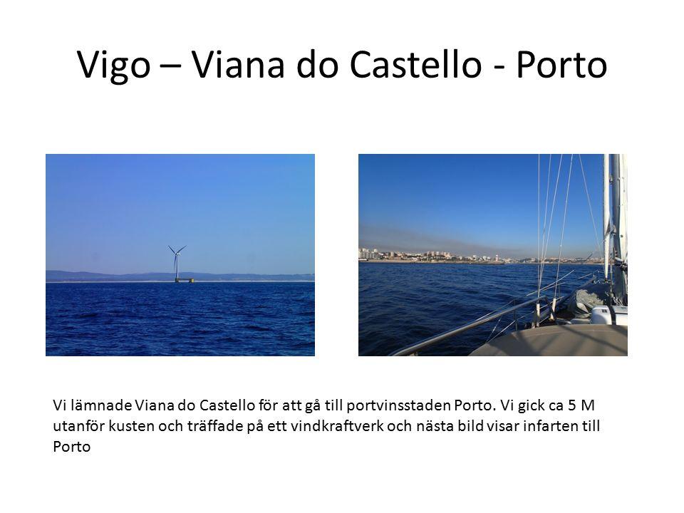 Vigo – Viana do Castello - Porto Vi lämnade Viana do Castello för att gå till portvinsstaden Porto. Vi gick ca 5 M utanför kusten och träffade på ett