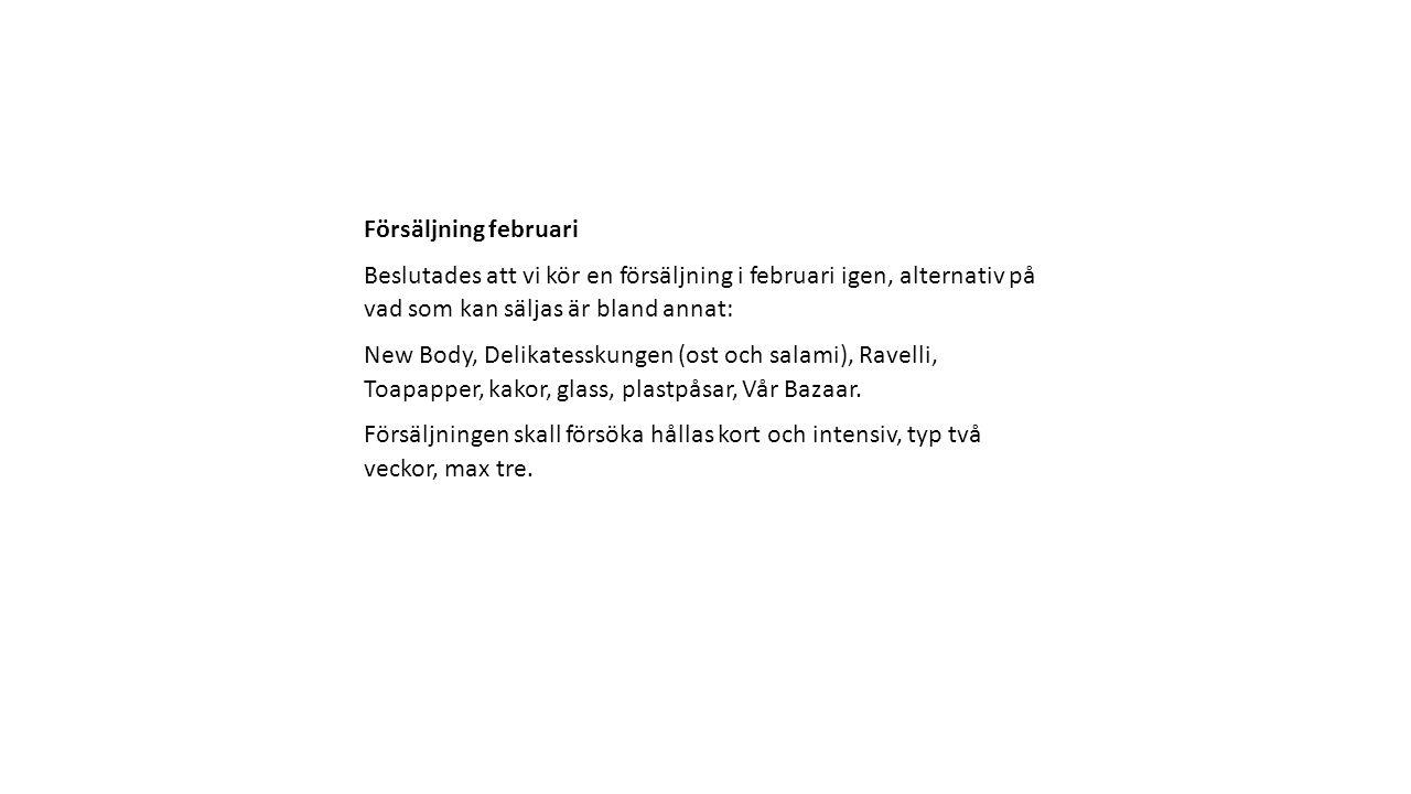 Fördelning toapapper Fördelning toapapper behövs ej längre då Ahlström köpt resterande.