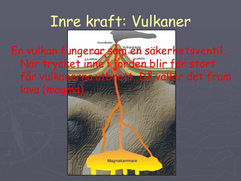 Inre kraft: Vulkaner En vulkan fungerar som en säkerhetsventil.