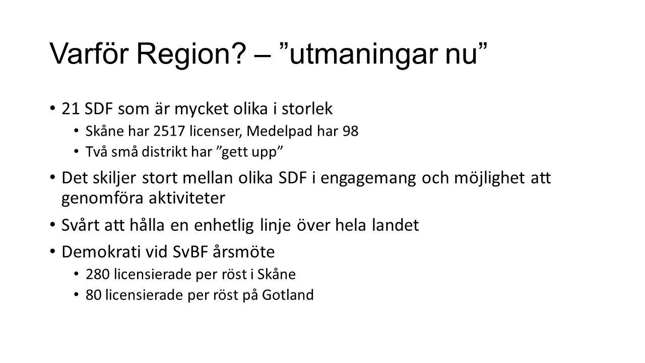 Varför Region.