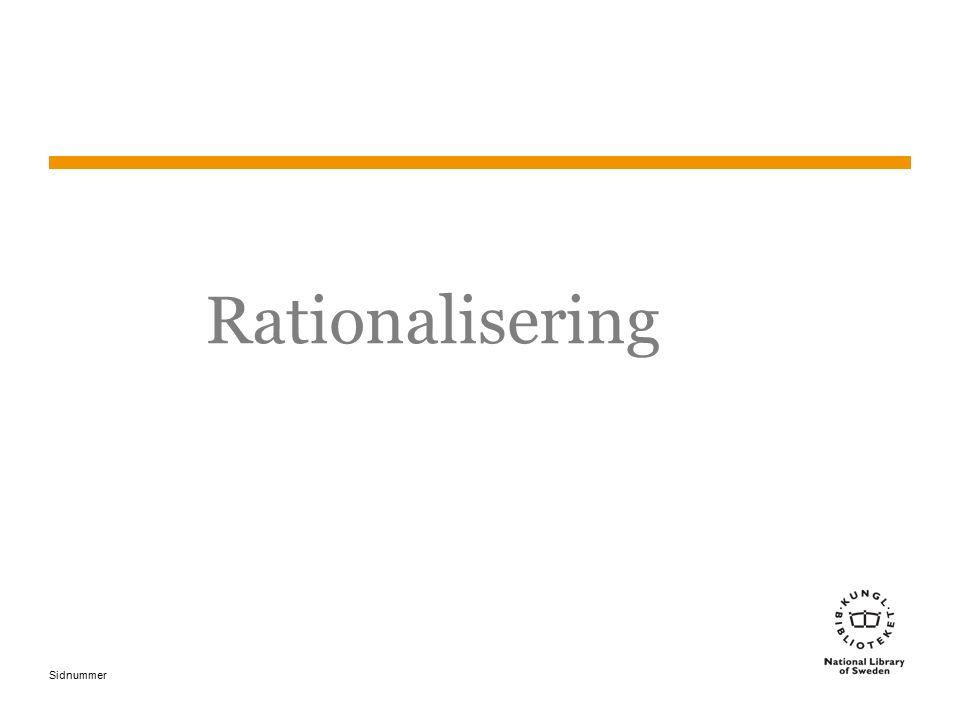Sidnummer Rationalisering