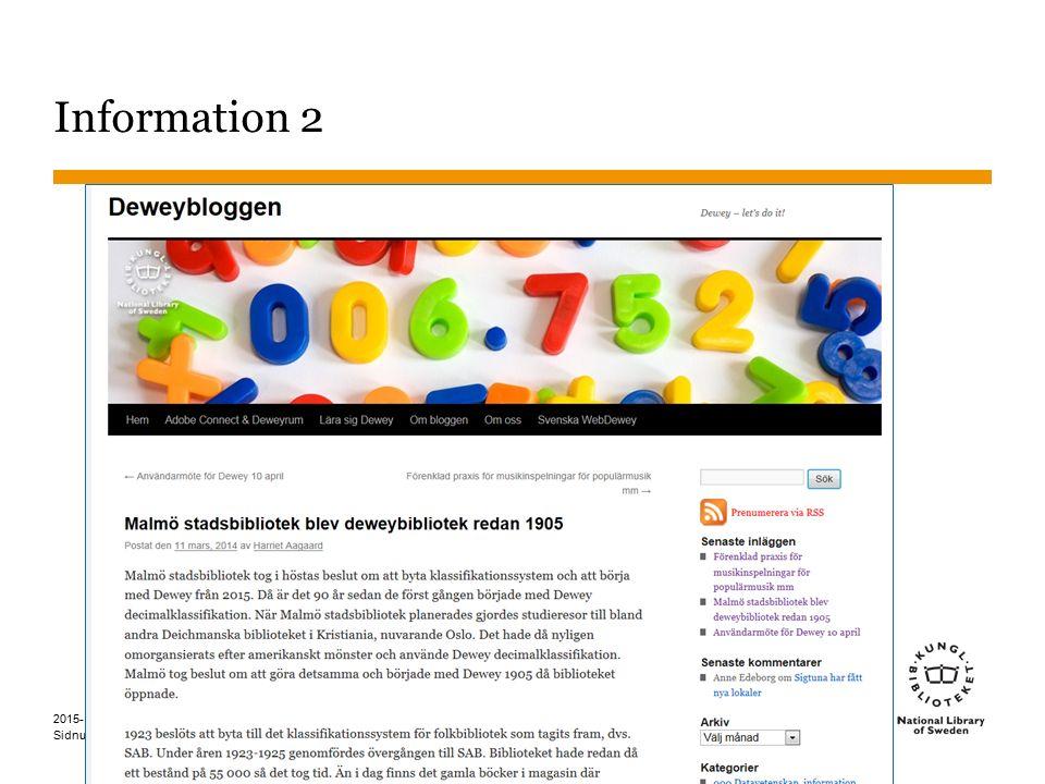 Sidnummer 2015-10-26 16 Information 2