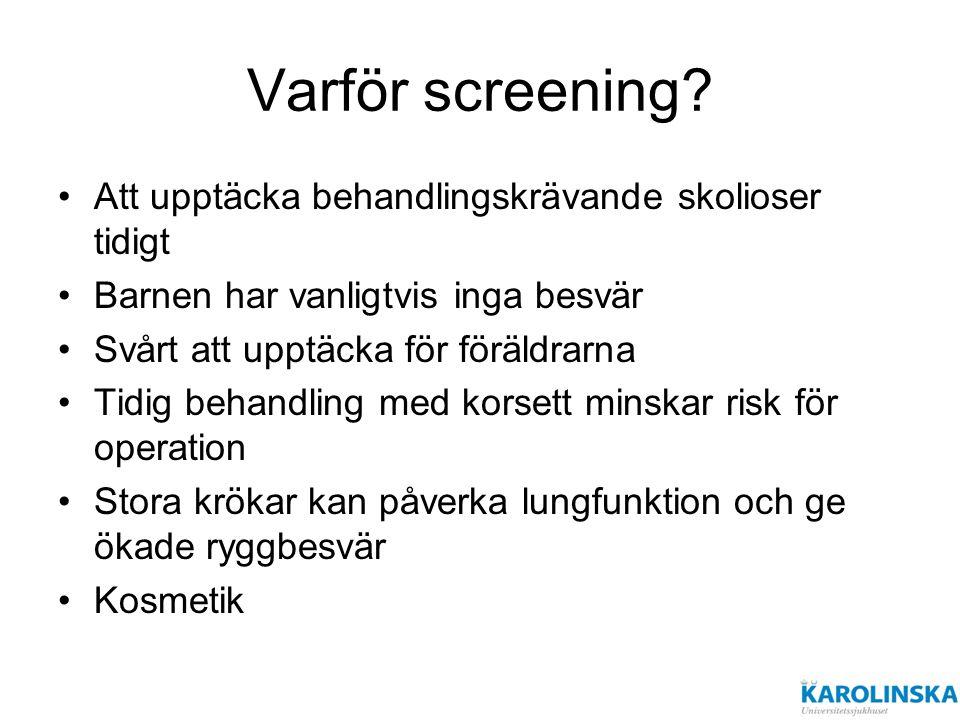 Varför screening.