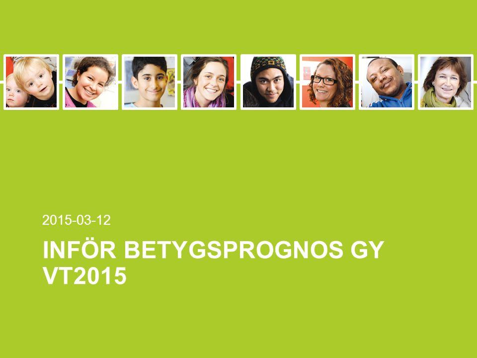 INFÖR BETYGSPROGNOS GY VT2015 2015-03-12