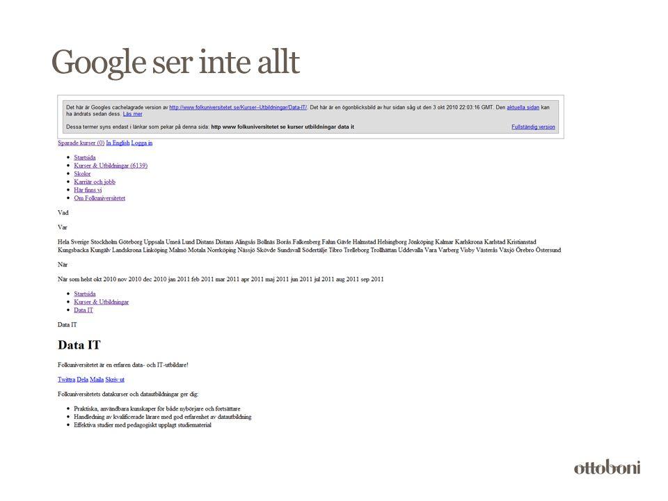 Google ser inte allt