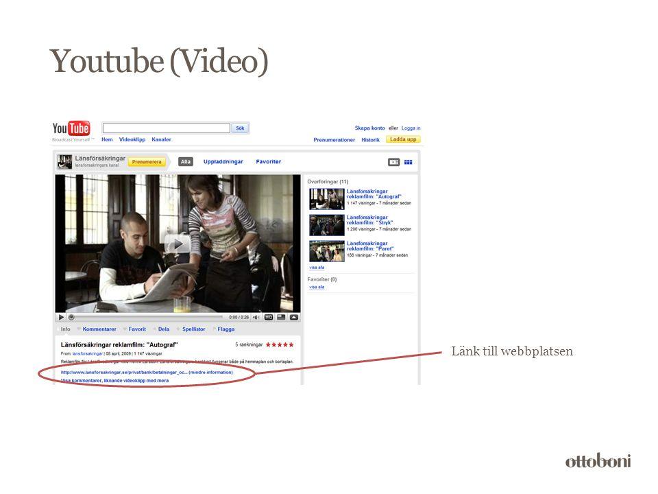 Länk till webbplatsen Youtube (Video)