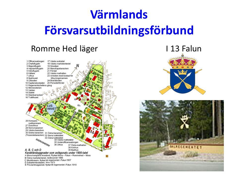 Värmlands Försvarsutbildningsförbund Romme Hed lägerI 13 Falun