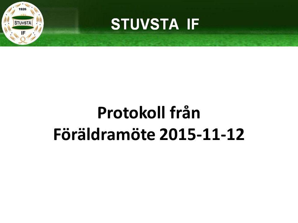 Protokoll från Föräldramöte 2015-11-12