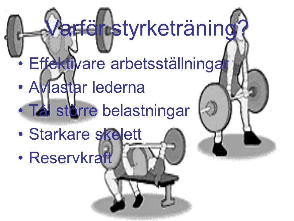 Varför styrketräning.