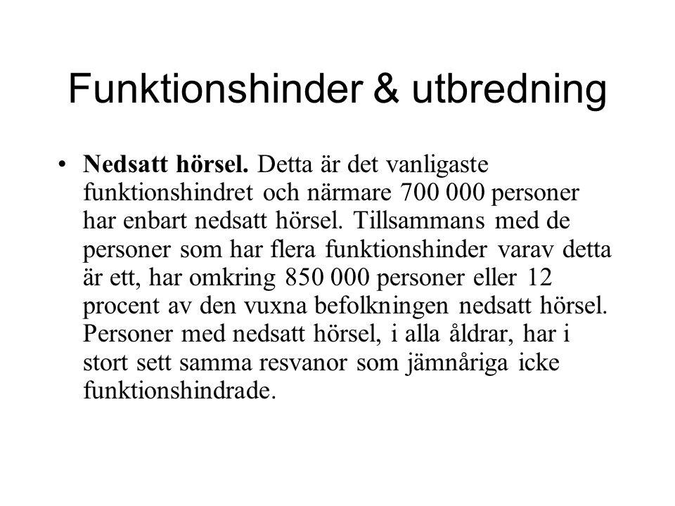 Funktionshinder & utbredning –Rörelsehinder.