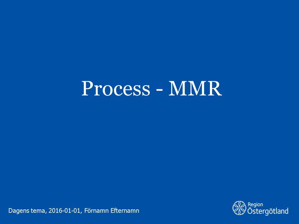 Process - MMR Dagens tema, 2016-01-01, Förnamn Efternamn