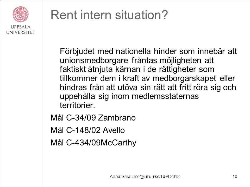 Anna-Sara.Lind@jur.uu.se/T6 vt 201210 Rent intern situation.