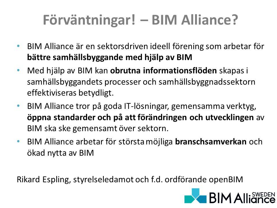 Förväntningar. – BIM Alliance.