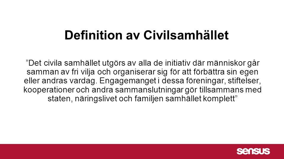 Det civila samhället utgörs av alla de initiativ där människor går samman av fri vilja och organiserar sig för att förbättra sin egen eller andras vardag.