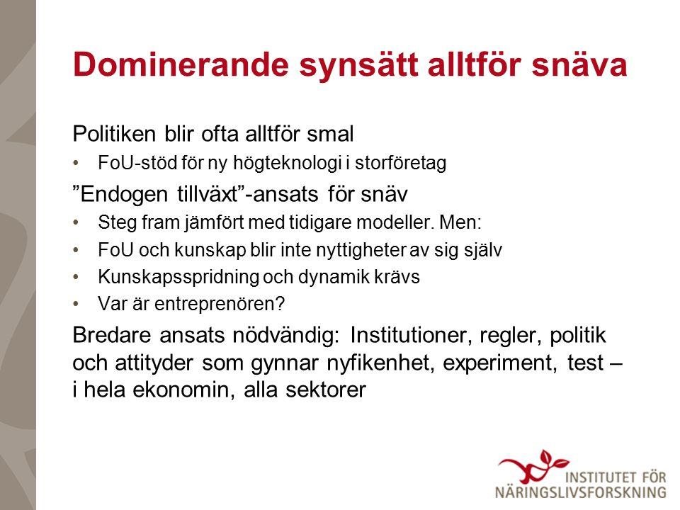 10 principer för innovationspolitiken: A.