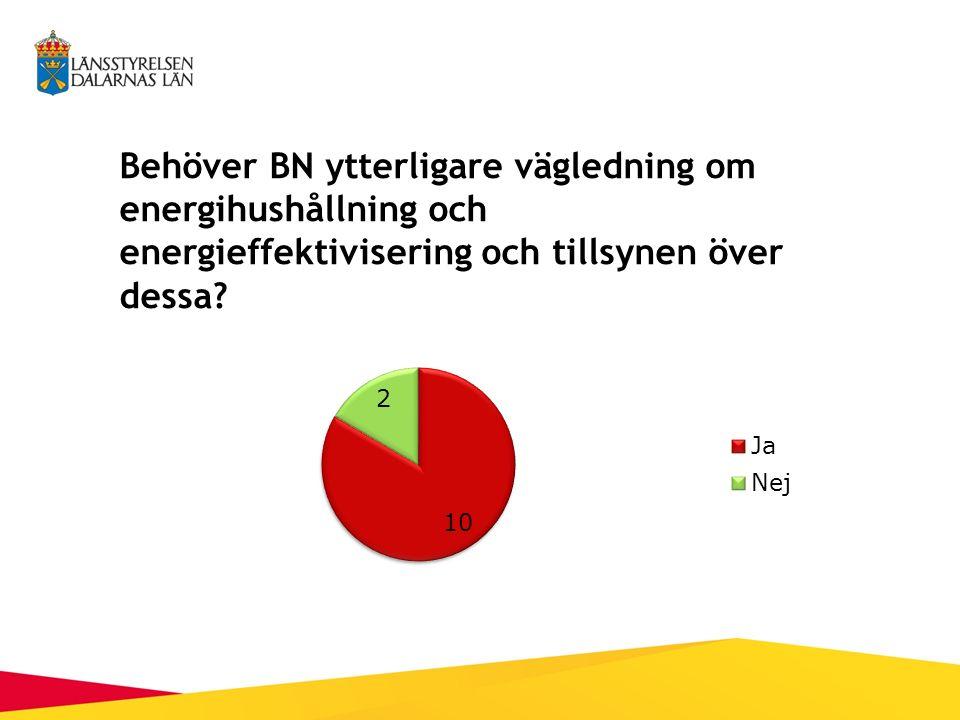 Behöver BN ytterligare vägledning om energihushållning och energieffektivisering och tillsynen över dessa?