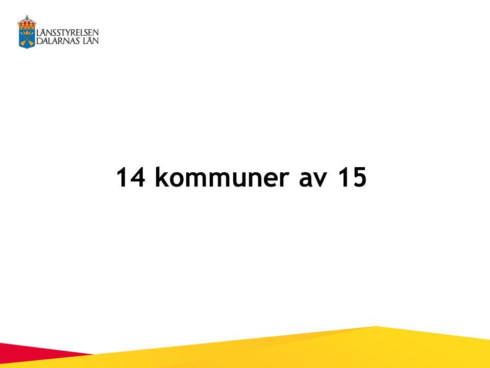 14 kommuner av 15