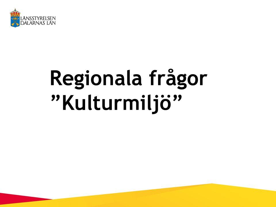 Regionala frågor Kulturmiljö