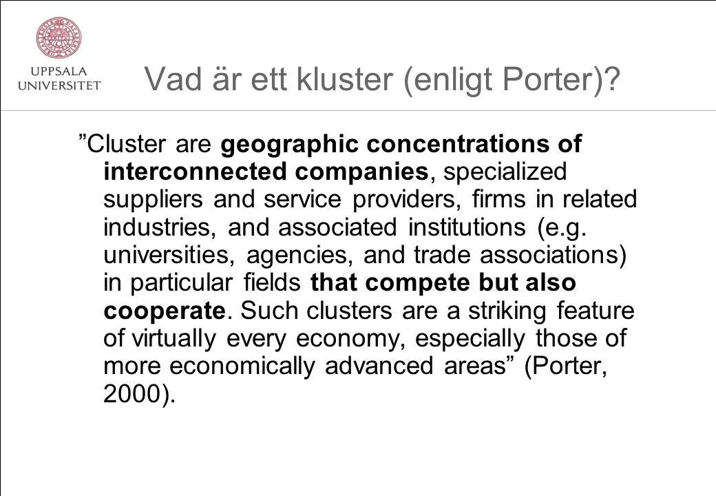 Vad är ett kluster (enligt Porter).