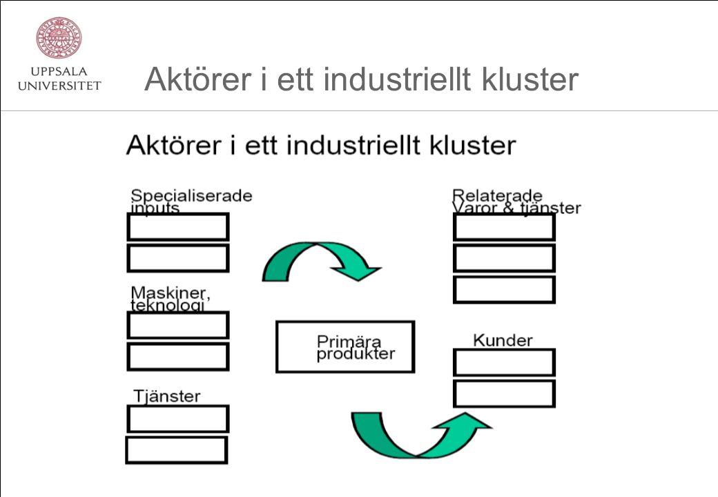 Aktörer i ett industriellt kluster