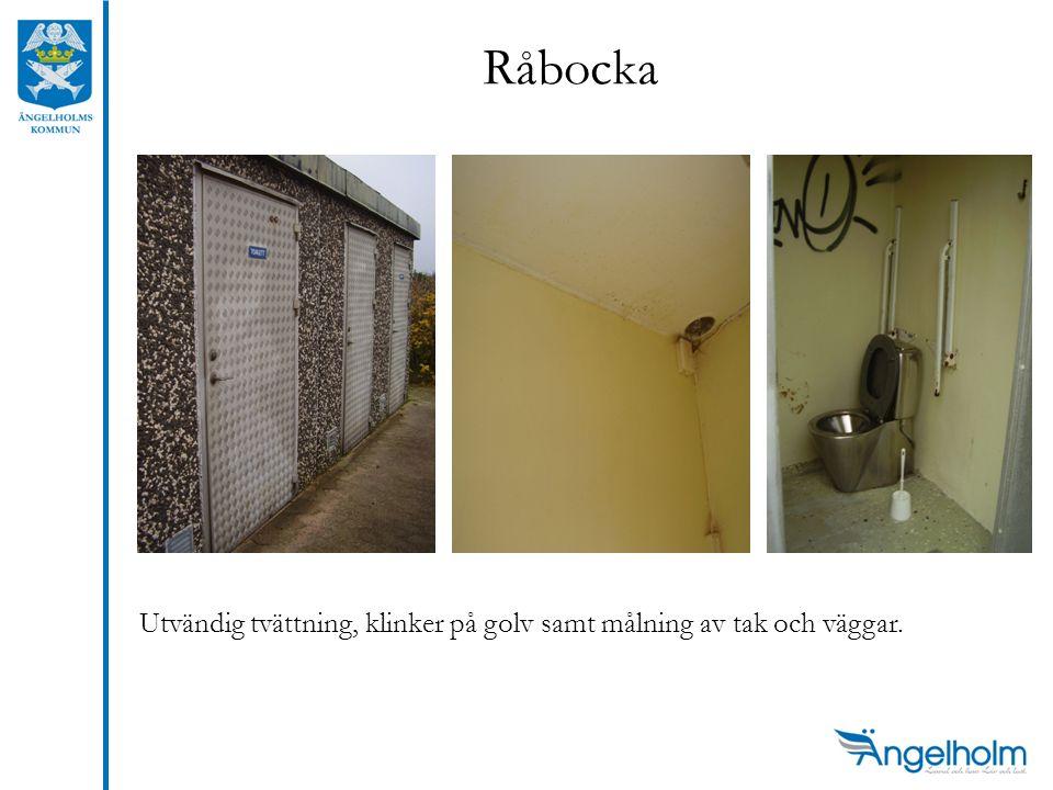 Råbocka Utvändig tvättning, klinker på golv samt målning av tak och väggar.