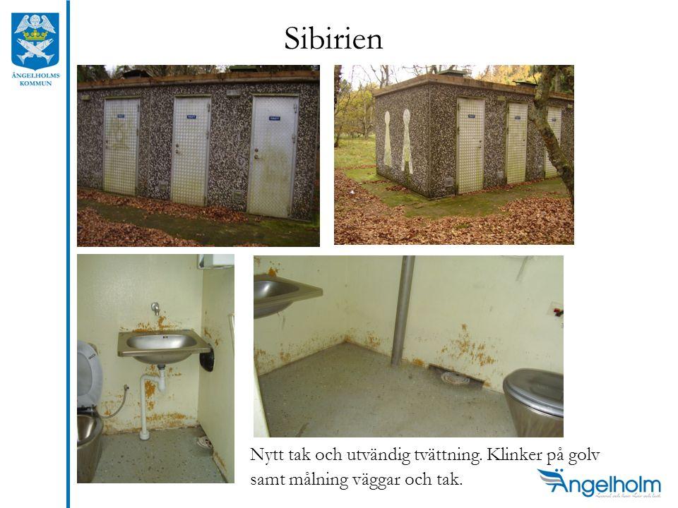 Sibirien Nytt tak och utvändig tvättning. Klinker på golv samt målning väggar och tak.