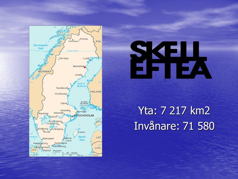 Yta: 7 217 km2 Invånare: 71 580