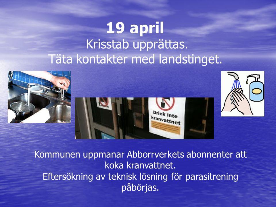 Kommunen uppmanar Abborrverkets abonnenter att koka kranvattnet.