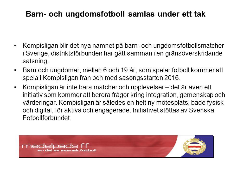 Barn- och ungdomsfotboll samlas under ett tak Kompisligan blir det nya namnet på barn- och ungdomsfotbollsmatcher i Sverige, distriktsförbunden har gått samman i en gränsöverskridande satsning.