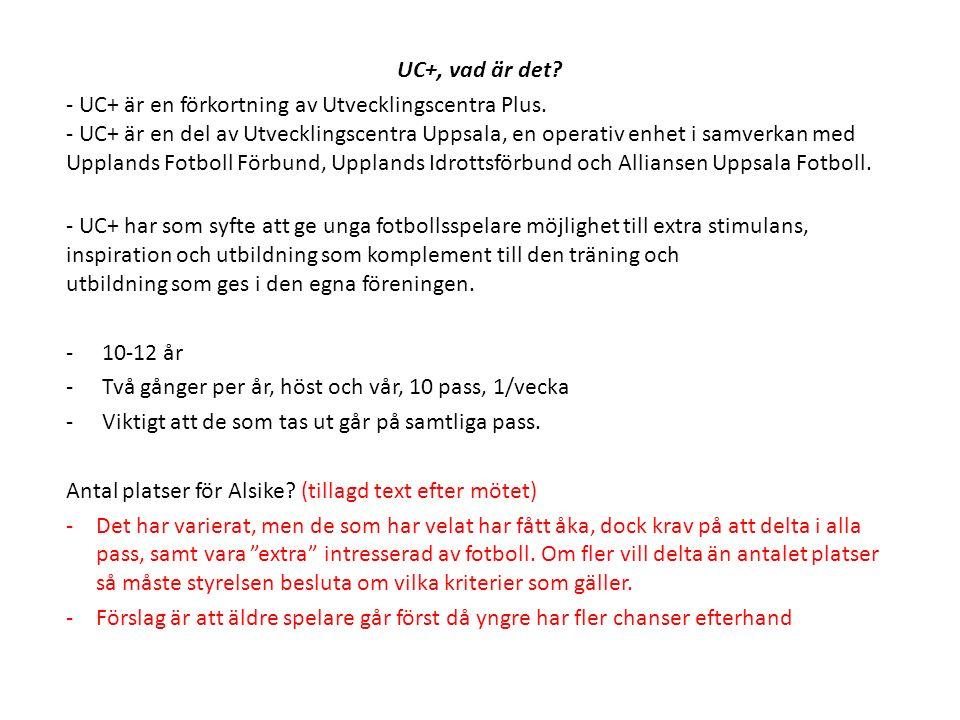 UC+, vad är det? - UC+ är en förkortning av Utvecklingscentra Plus. - UC+ är en del av Utvecklingscentra Uppsala, en operativ enhet i samverkan med Up