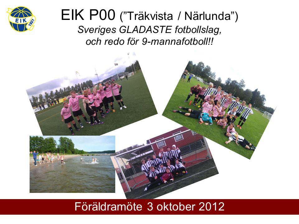 EIK P00 ( Träkvista / Närlunda ) Sveriges GLADASTE fotbollslag, och redo för 9-mannafotboll!.