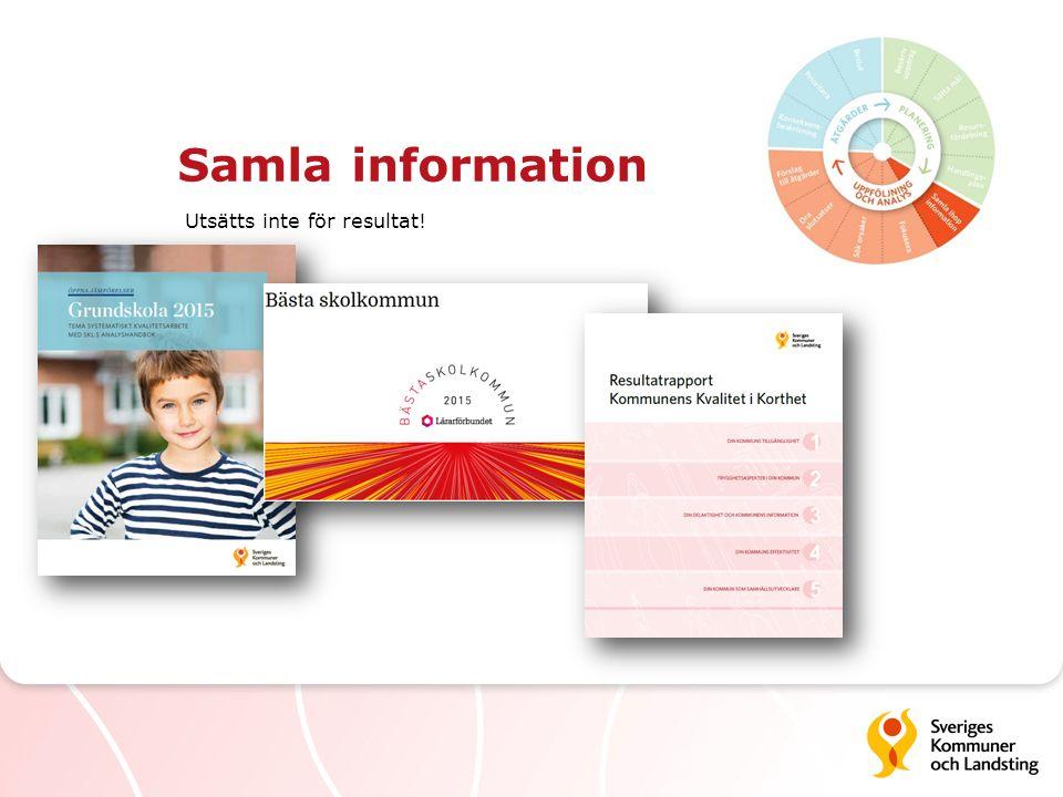 Samla information Utsätts inte för resultat!