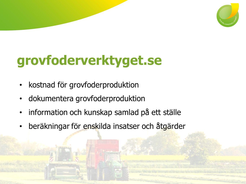 grovfoderverktyget.se kostnad för grovfoderproduktion dokumentera grovfoderproduktion information och kunskap samlad på ett ställe beräkningar för enskilda insatser och åtgärder