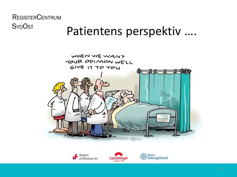 Patientens perspektiv …. 10