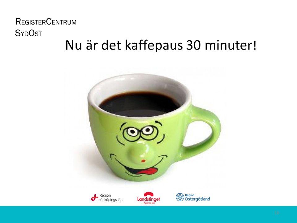 18 Nu är det kaffepaus 30 minuter !