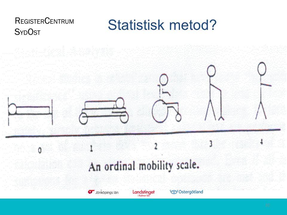 Statistisk metod? 30