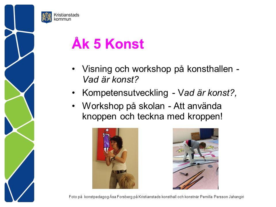 Åk 5 Konst Visning och workshop på konsthallen - Vad är konst.
