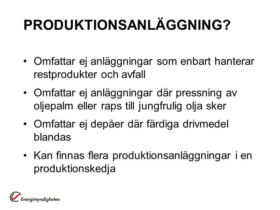 PRODUKTIONSANLÄGGNING.