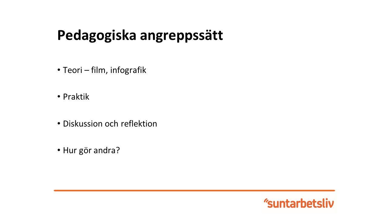 Pedagogiska angreppssätt - Film Ett aktivt arbetsmiljöarbete (3 min)
