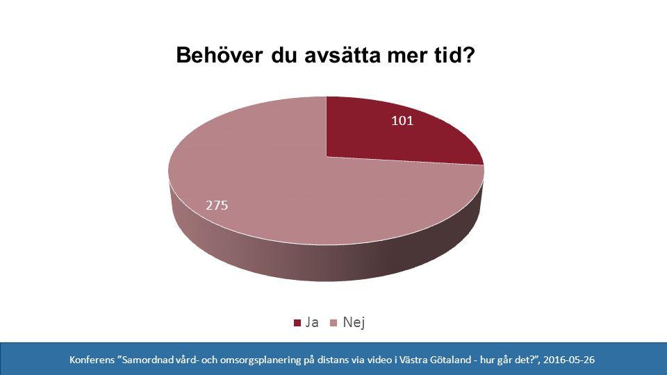 Konferens Samordnad vård- och omsorgsplanering på distans via video i Västra Götaland - hur går det , 2016-05-26