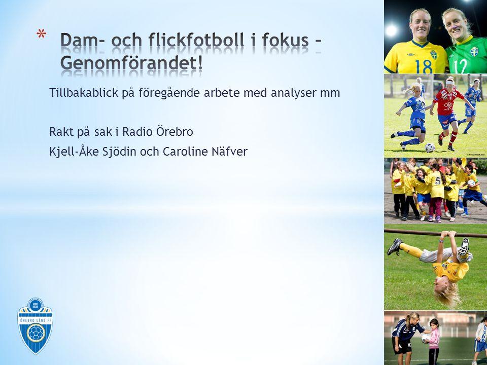 Tillbakablick på föregående arbete med analyser mm Rakt på sak i Radio Örebro Kjell-Åke Sjödin och Caroline Näfver