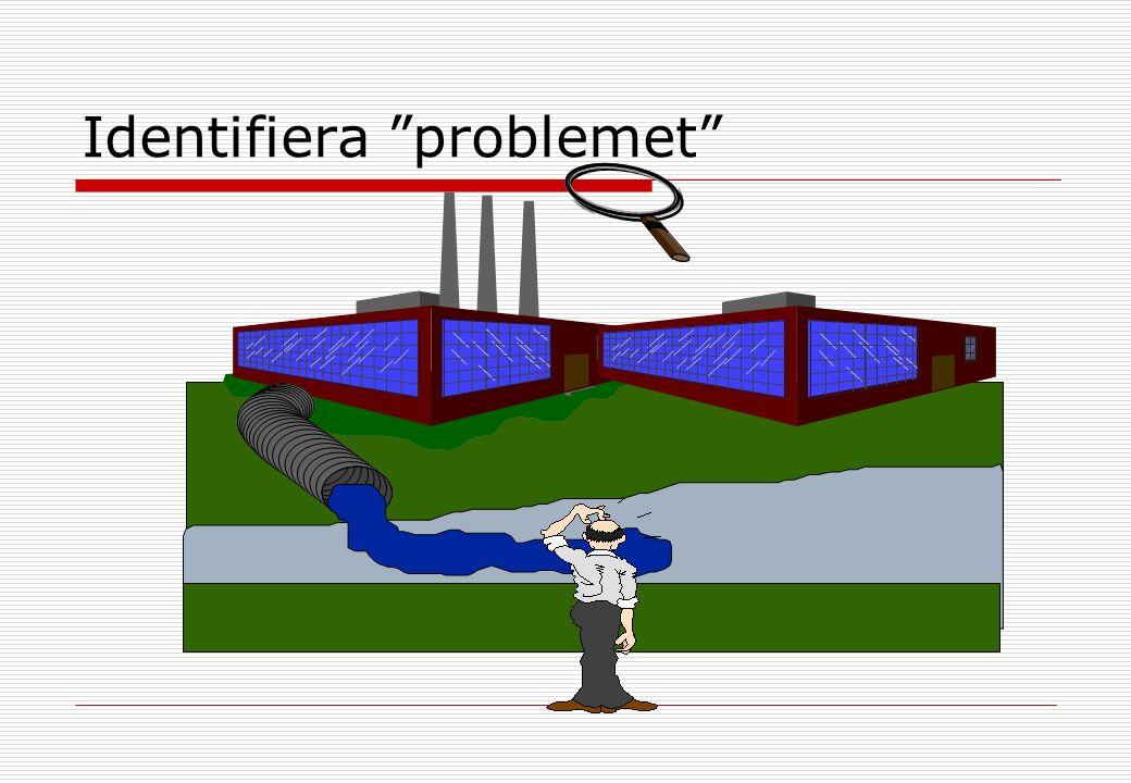 Kontroll av avloppsvatten  Mät flödet  Tag prover  Tag hand om proverna  Analysera proverna  Sammanställ och delge resultat